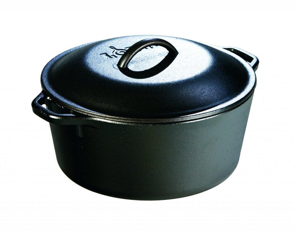 Litinový hrnec s poklicí Lodge 4,7l (Dutch oven)