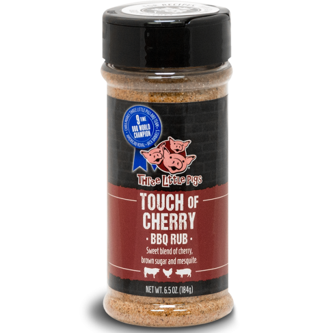 """Three Little Pigs BBQ """"Touch of Cherry"""" 184 g"""