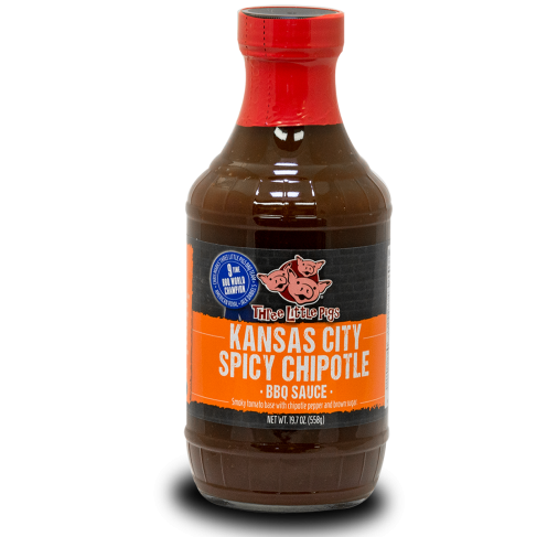 BBQ omáčka Three Little Pigs Kansas City Spicy Chipotle, 558 g