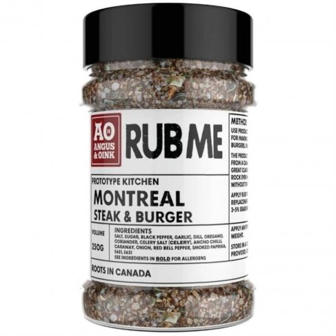Angus & Oink Montreal Steak, 250 g