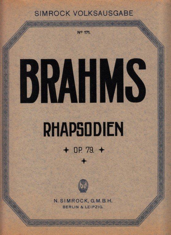 Brahms Johannes: Rhapsodien op.79