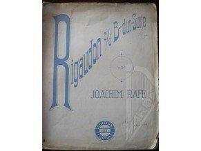 Raff Joachim: Rigaudon (D-dur)
