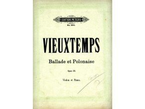 Vieuxtemps Henri: Ballade et Polonaise op. 38 pro housle a klavír