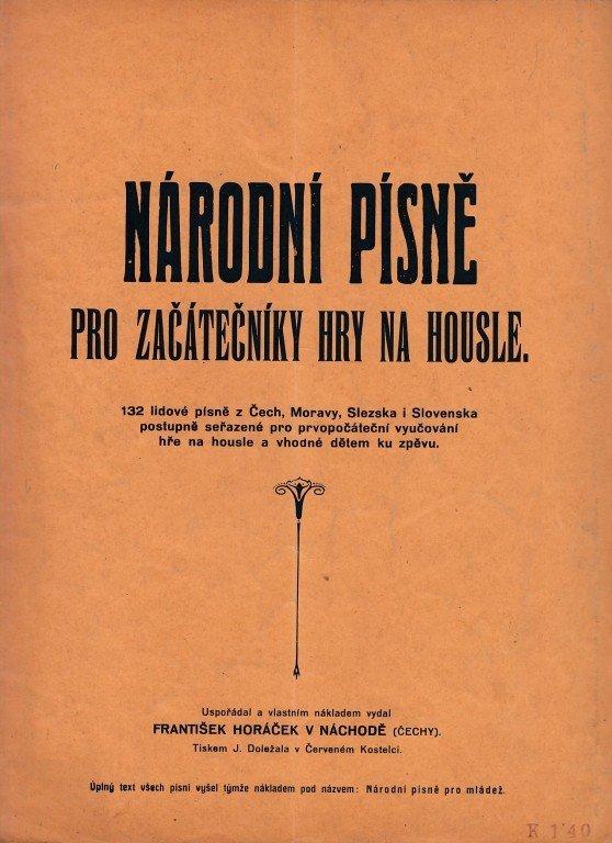Národní písně pro začátečníky hry na housle