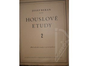 Beran Josef: Houslové etudy op.16/a sešit 2