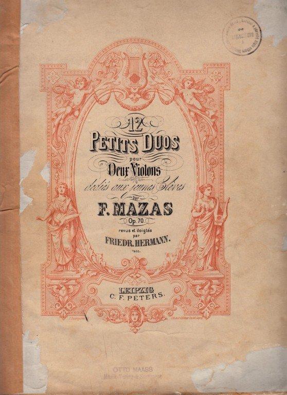 Mazas F.: 12 Petits Duos pour 2 Violons op.70