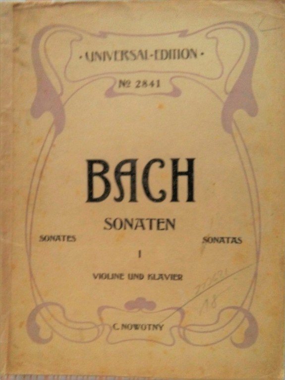 Bach J.S.: 6 Sonaten Violine und Klavier I