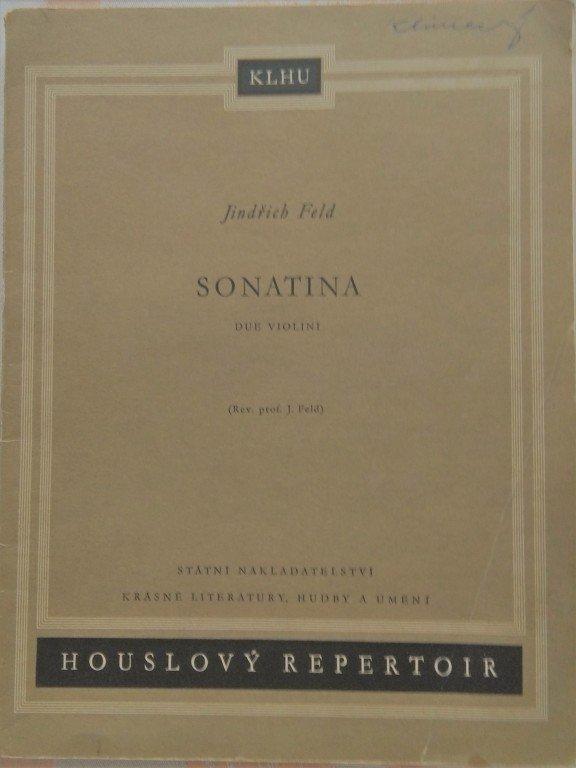 Feld Jindřich: Sonatina pro dvoje housle /1