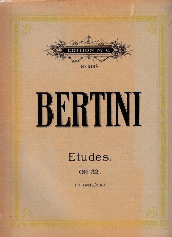 BERTINI H.: Etudes op.32 pour piano