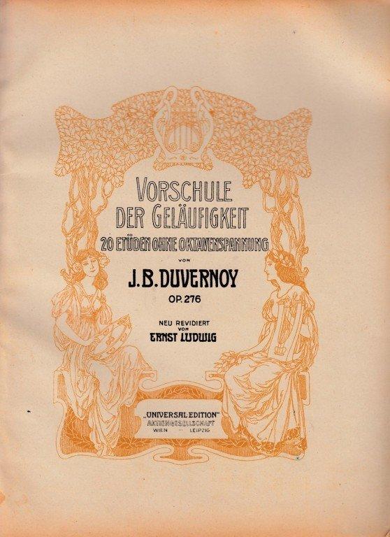 Duvernoy J.B.: Vorschule der Geläufigkeit op.276