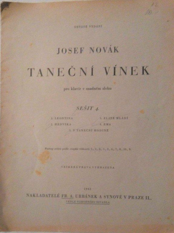 Novák Josef: Taneční vínek - sešit 4.