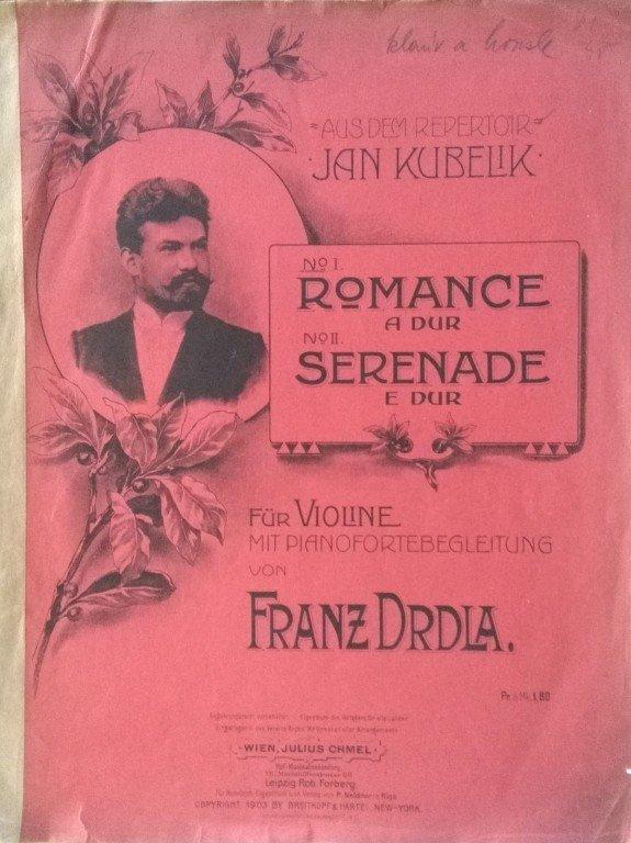 Drdla Franz: Romance A-dur pro housle a klavír