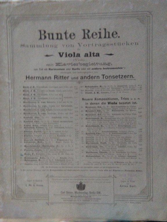 Poenitz Franz: Idylle für Violoncello und Harmonium oder Klavier op.23