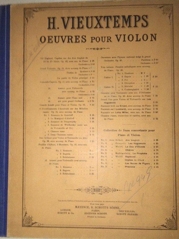 Vieuxtemps H.: Grand concerto op.10