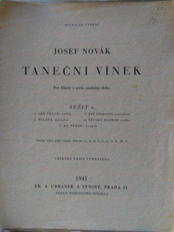 Novák Josef: Taneční vínek - sešit 1.