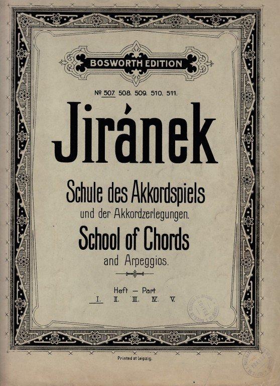 Jiránek Josef: Schule des Akkordeonspieles - sešit I.