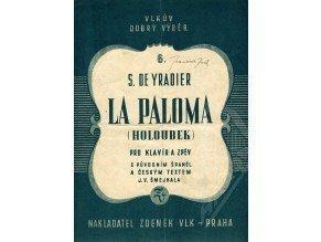 Yradier S.de: La Paloma