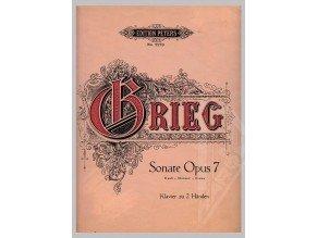 Grieg Edvard: Sonate Opus 7 e-moll /1