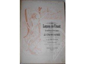 Concone J.: 50 Lecons de Chant op.9