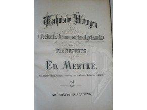 Mertke Ed.: Technische Übungen (Technik-Ornamentik-Rhytmik)