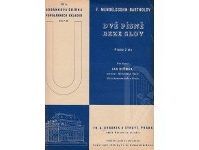 Mendelssohn-Bartholdy Felix: Dvě písně beze slov