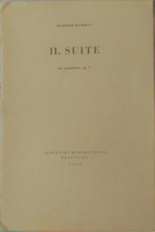 Kardoš Dezider: II.suite per pianoforte op.5