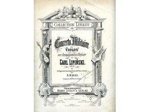 Lipiński Carl : Concerto Militaire op.21 pro housle a orchestr