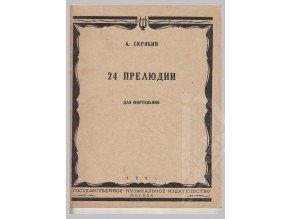 Skrjabin Alexander Nikolajevič: 24 preludia