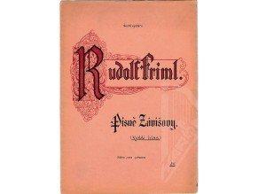 Friml Rudolf: Písně Závišovy op. 1