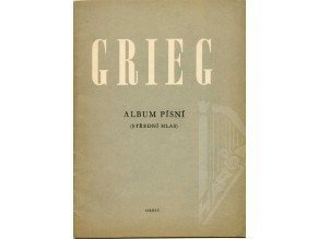 Grieg Edvard Hagerup: Album písní