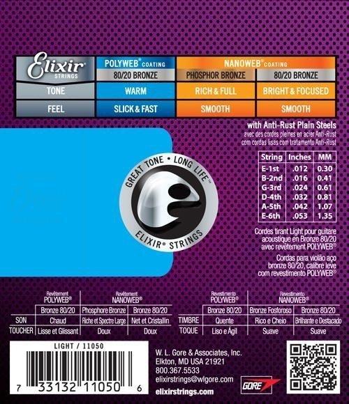 Elixir 11025 .011 - .052 struny