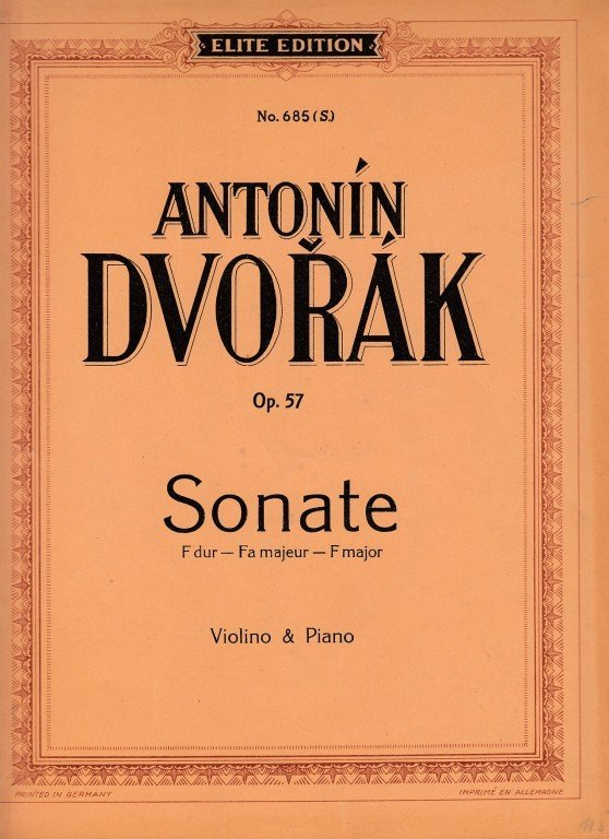 Dvořák Antonín: Sonate F-dur op.57