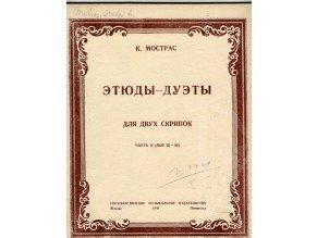 Mostras K.: Etudy - dueta pro dvoje housle II.díl