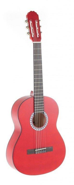 PURE GEWA Klasická kytara 3/4 červená