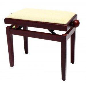 FX Lavička pro piano Mahagon-matný béžové sedadlo