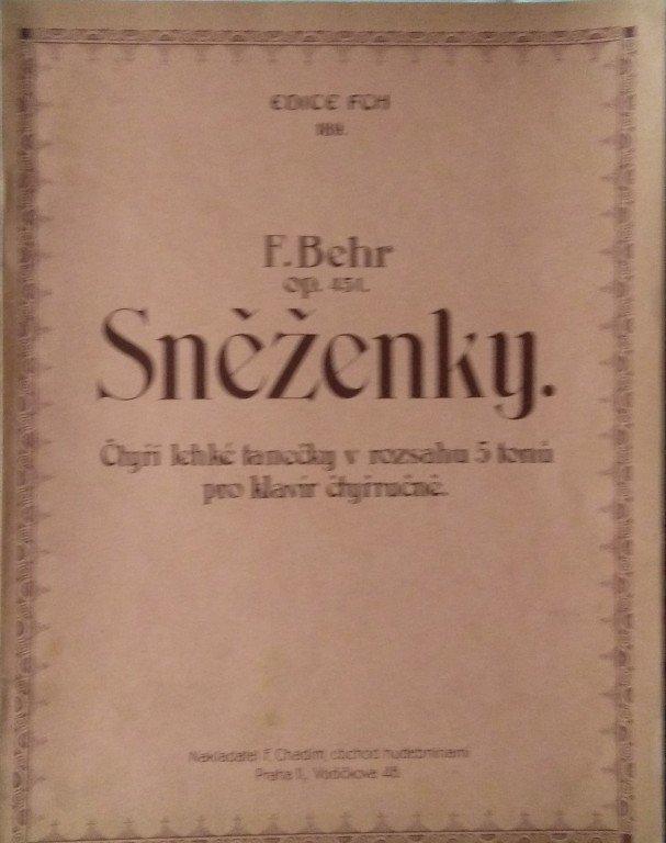 Behr F.: Sněženky op.451 čtyřruční