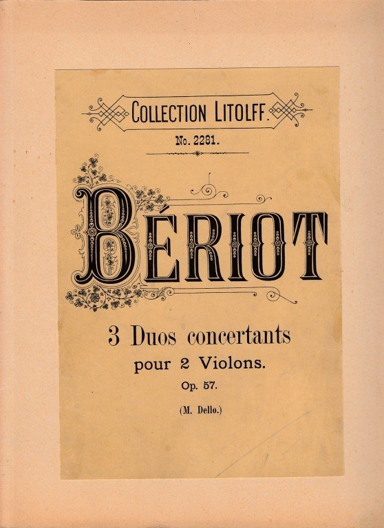 Bériot Ch.de: 3 Duos concertantes op.57