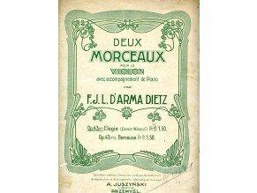 Dietz d´Arma F.J.L.: Elegie op.43, č.1