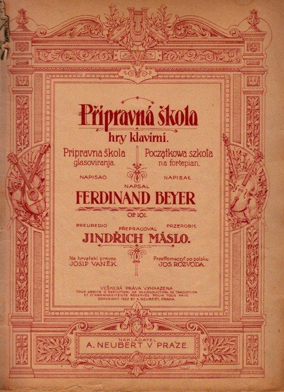 Beyer Ferdinand-Máslo Jindřich: Přípravná škola hry klavírní op.101