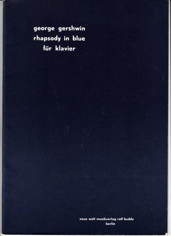Gerschwin George: Rhapsody in blue für klavier