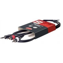 Stagg SYC 1/MPS2CM E 1 m kabel 2x cinch na 3,5 jack stereo