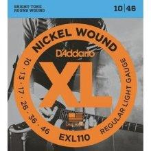 D'Addario EXL110 struny el. kytara 3 sady