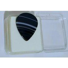 Trsátko kamenné TRKAM11 velké černé menší proužky