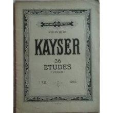 Kayser H.E. : 36 etud pro housle op.20 III.díl
