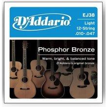 D'Addario EJ38 struny 12 str. kytara