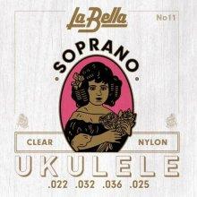 LaBella 11 Soprano Clear Nylon