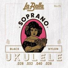 LaBella 15 Soprano Black Nylon ,028