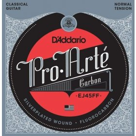 D'Addario EJ45FF Pro-Arté Carbon, Dynacore Basses, Normal Tension