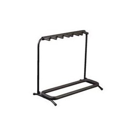 Rockstands Multiple 5 3xElectric-2xAcoustic Guitar Rack Stand Black