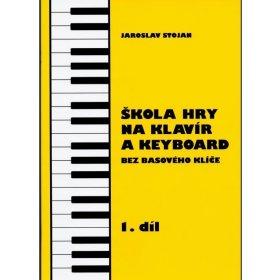 Stojan-Škola hry na klavír a keyboard bez basového klíče